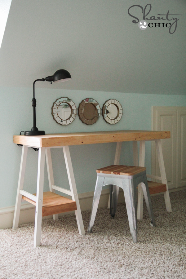 Simple DIY Desk! - Shanty 2 Chic