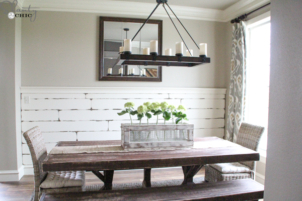 DIY Distressed Plank Wall Shanty 2 Chic