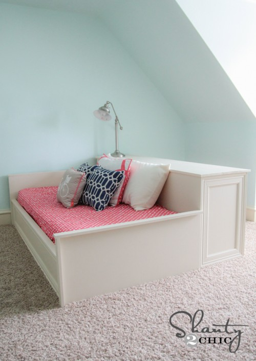 DIY Platform Dresser Bed - Shanty 2 Chic
