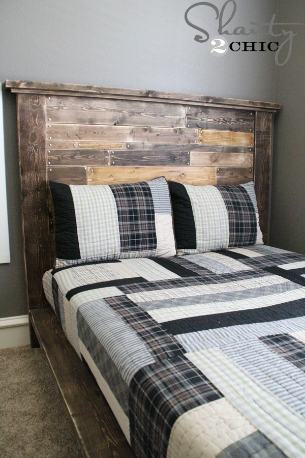 DIY Planked Headboard - Shanty 2 Chic