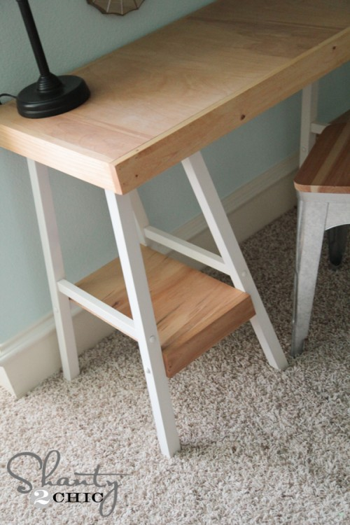Turn barstools into a desk