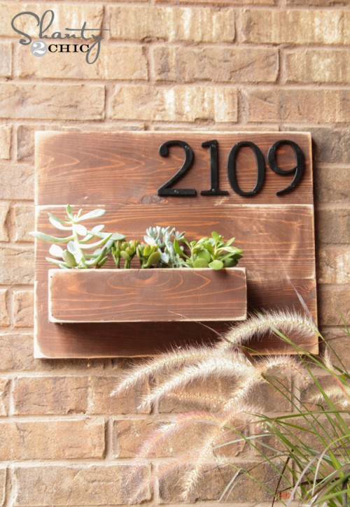 Wall Planter with Address Number