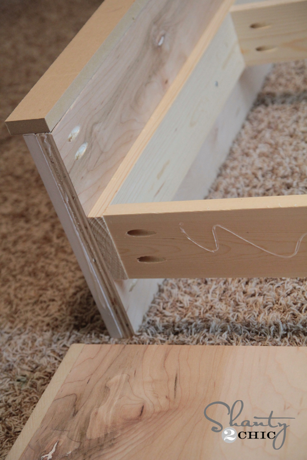 And, my last step was assembling the headboard and foot board. I used ...