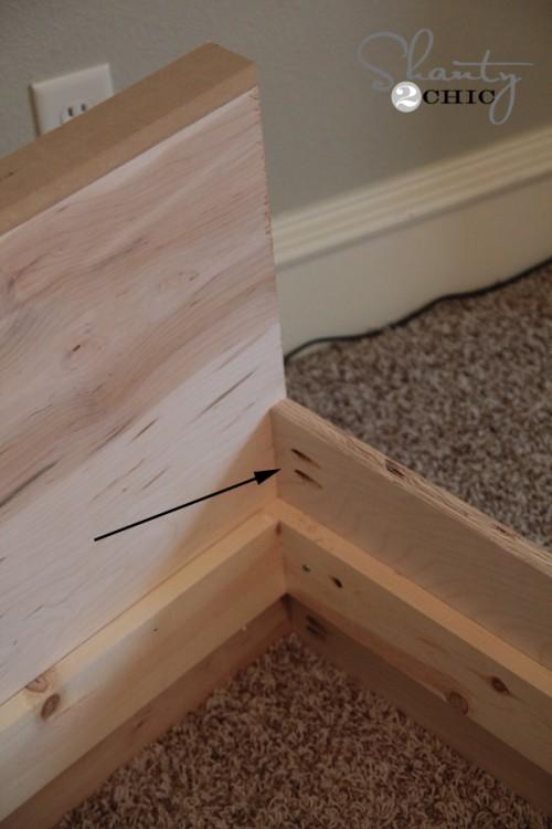 building the platform bed