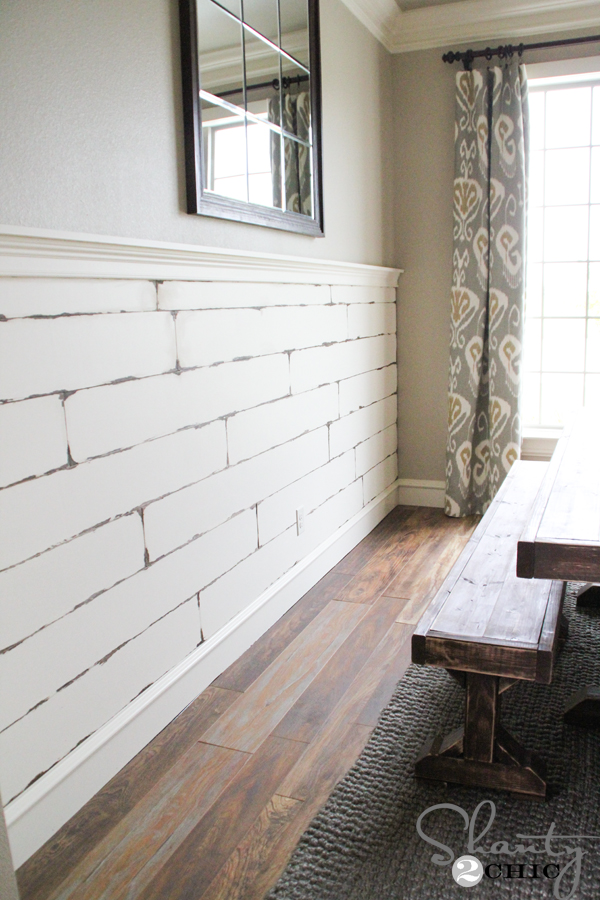 DIY Distressed Plank Wall