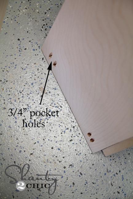 pocket holes on bed frame