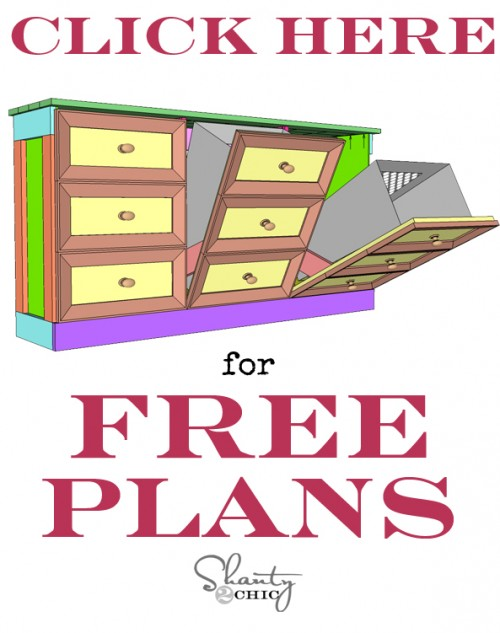 Free Plans for Laundry Basket Dresser