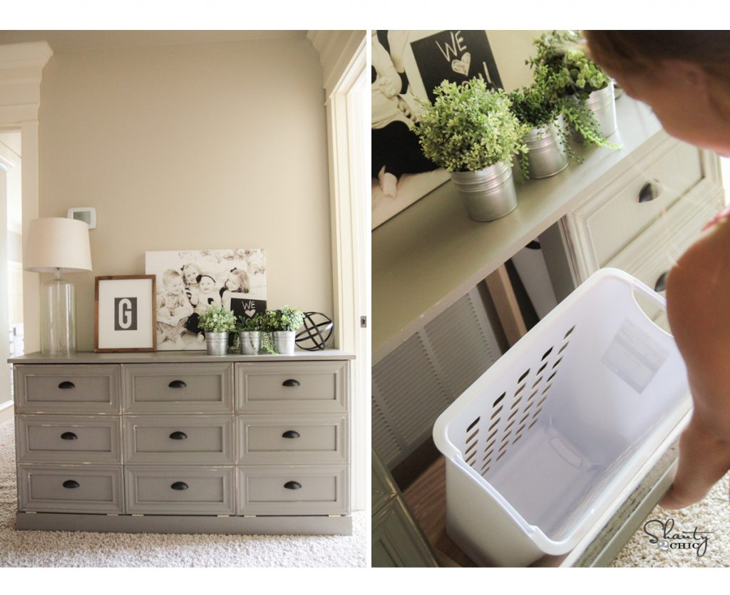 DIY Laundry Basket Dresser