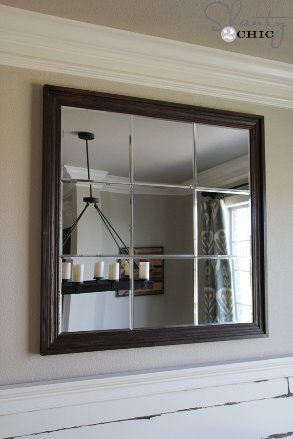 Large Wall Mirror diy large paneled wall mirror - shanty 2 chic