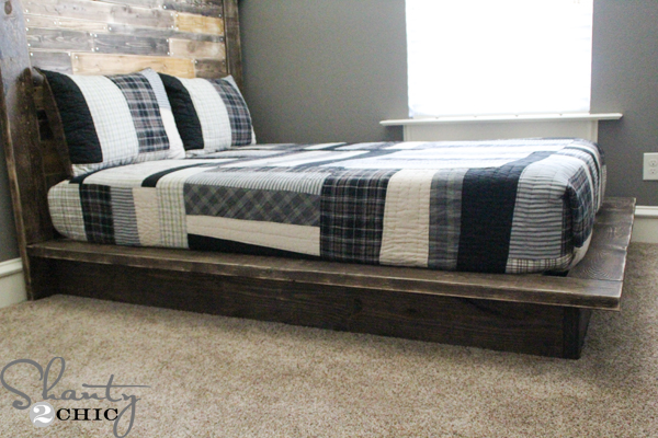 Platform Bed Frames Plans easy diy platform bed - shanty 2 chic