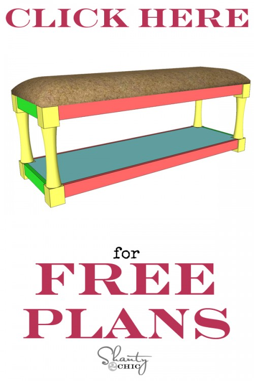 Print Free Plans DIY Upholstered Bench