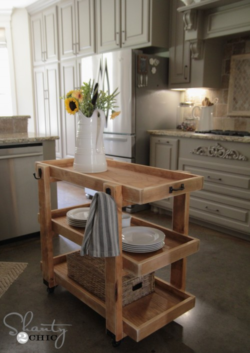 Diy Rolling Storage Cart Shanty 2 Chic