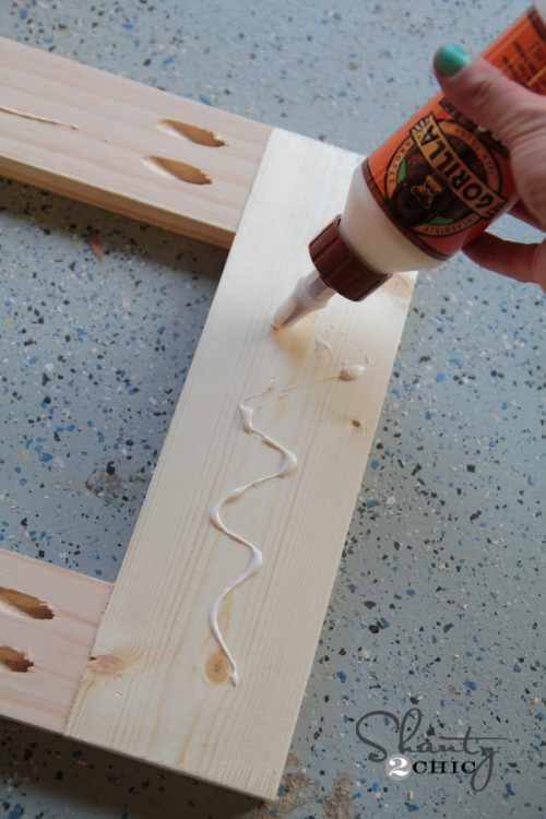 wood glue on door