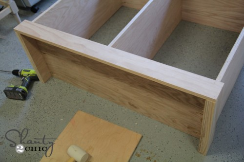 Attach Bottom trim