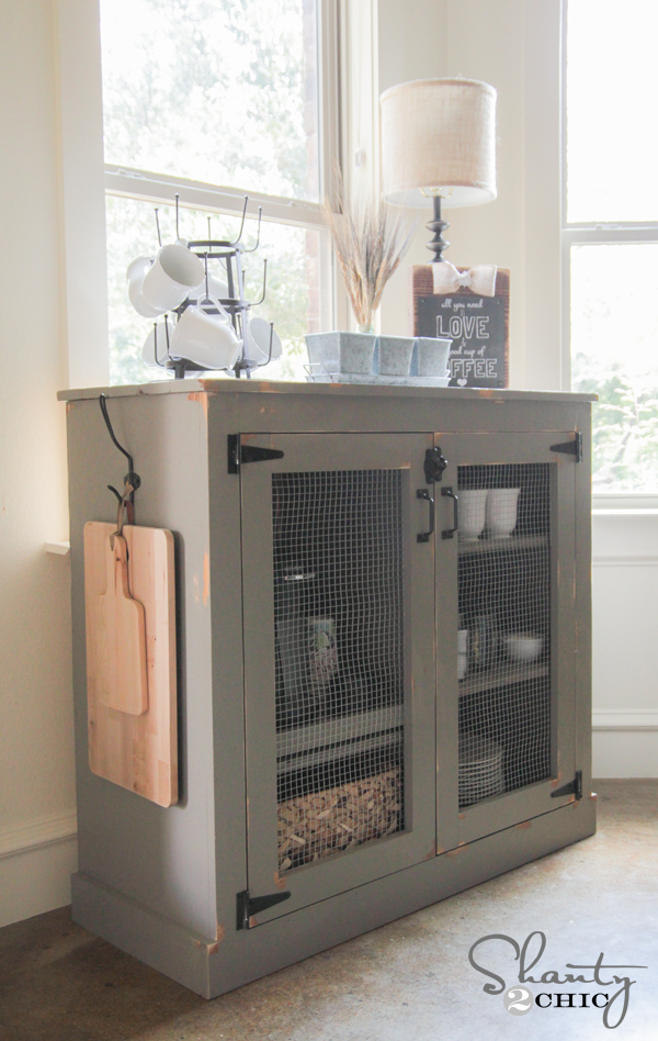 Good DIY Coffee Cabinet By Shanty2Chic