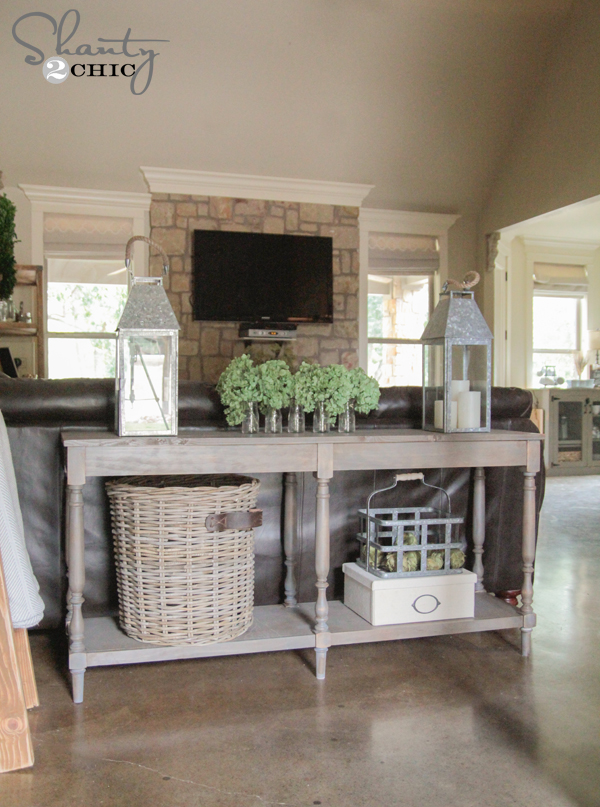 woodworking plans diy console table