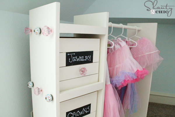 Free Woodworking Plans - DIY Dress Up Cart - Shanty 2 Chic