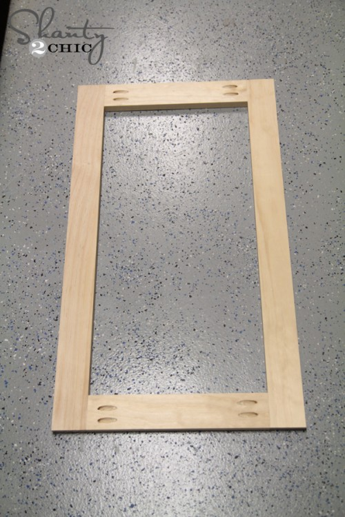 Door Frame for Coffee Cabinet