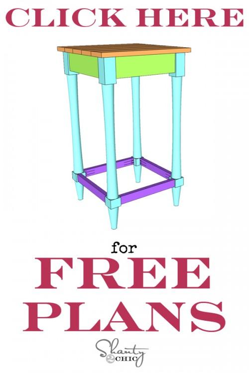 Free Printable Furniture Plans DIY Bar Stool