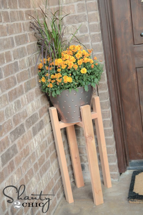Free Woodworking Plans DIY Plant Stand
