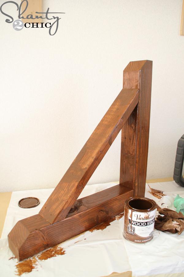 Simple Wood Corbels : Diy rustic corbel shanty chic