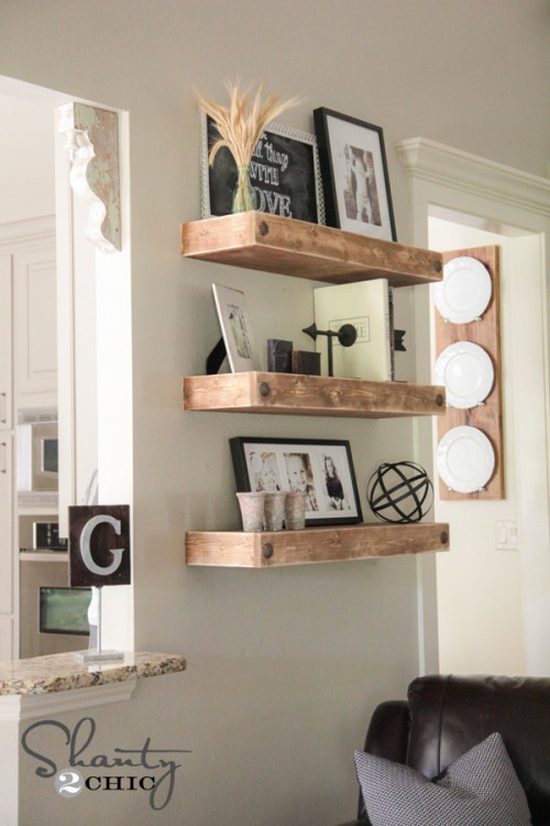 DIY Floating Shelves - Shanty2Chic