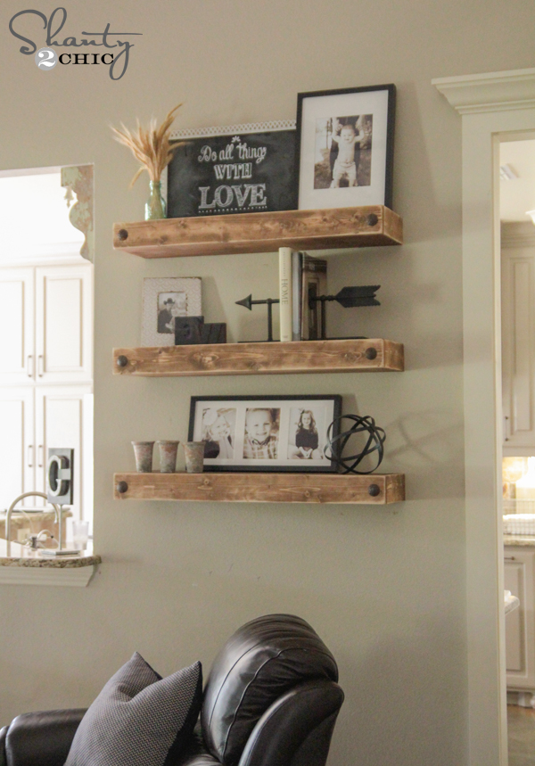 Diy floating shelves for House shelves designs