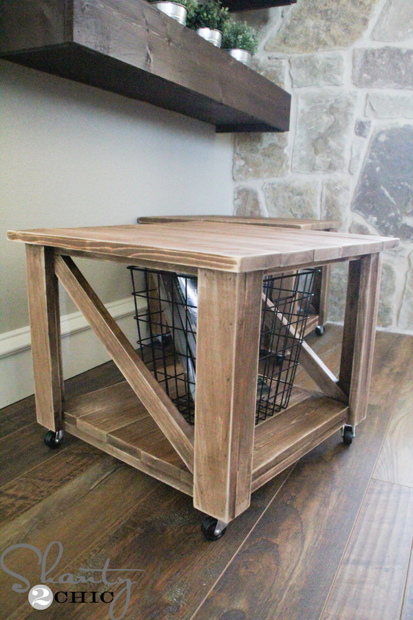 Free Woodworking Plans - DIY Rolling Storage Ottoman
