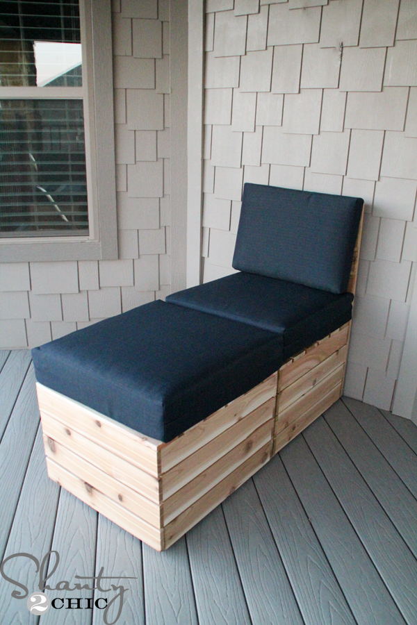Diy modular outdoor seating shanty 2 chic for Build outdoor chaise lounge