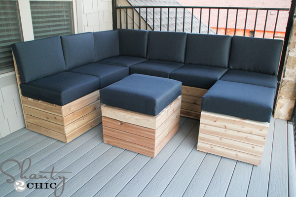Charmant DIY Outdoor Modular Seating