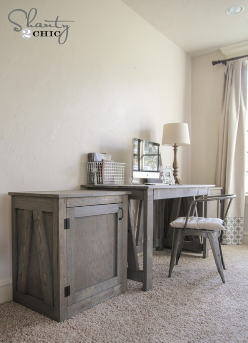 Free Woodworking Plans - Desk System