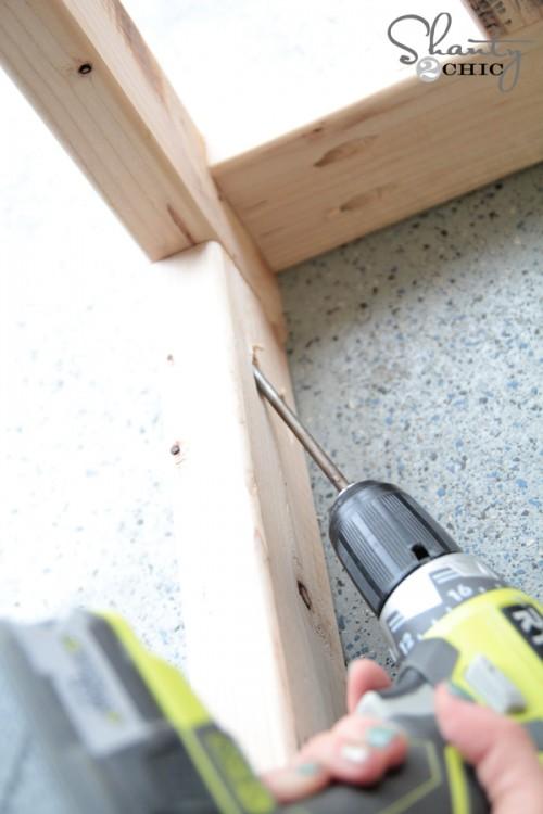 Pocket Holes for DIY Desk