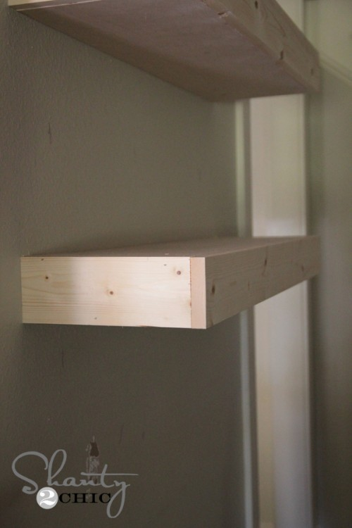 Side of Floating Shelves