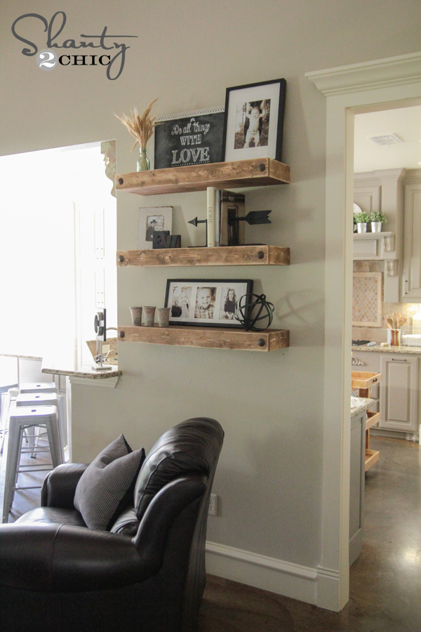 simple diy floating shelves - Floating Shelves In Living Room