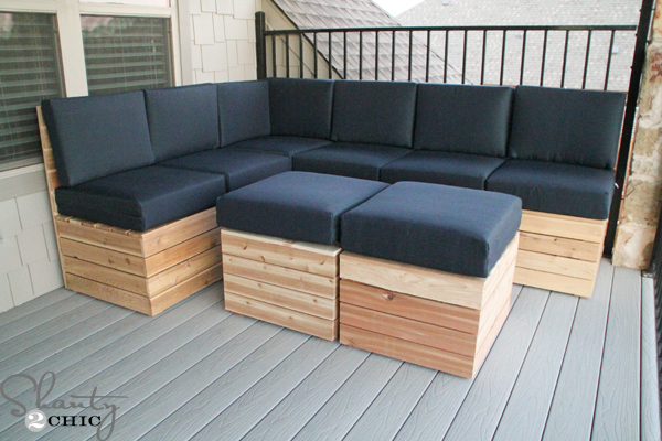 diy-outdoor-sectional : how to make a sectional couch - Sectionals, Sofas & Couches