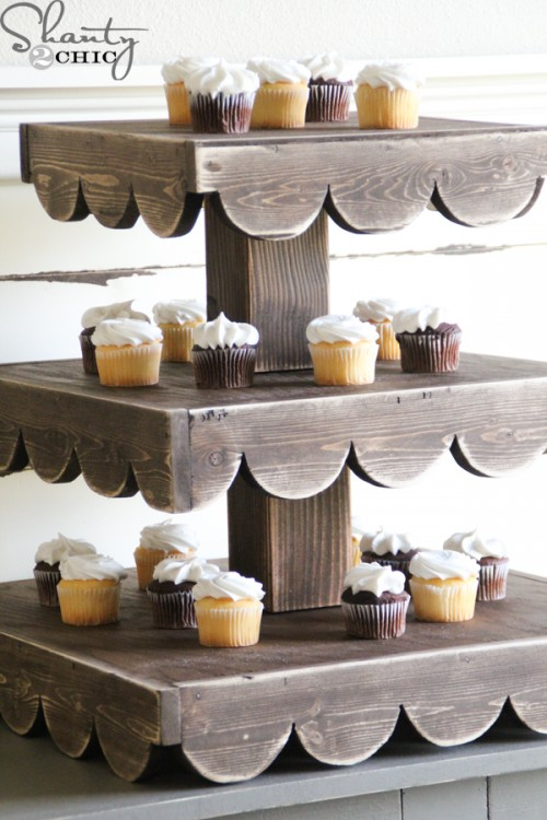 Diy cupcake stand and a giveaway shanty 2 chic for Cupcake stand plans