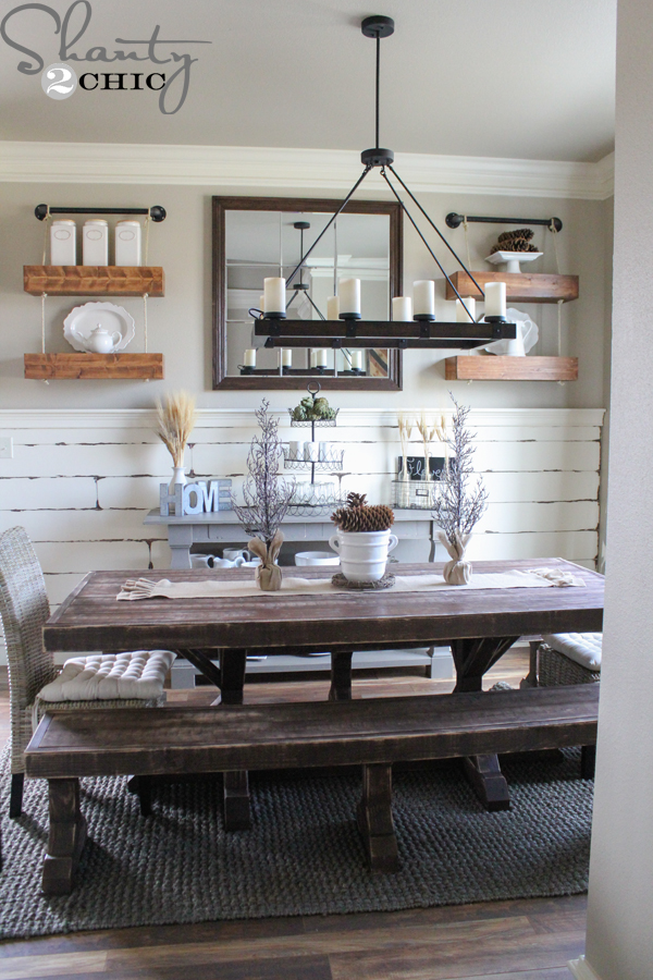 Rope And Pipe Floating Shelves Shanty 2 Chic