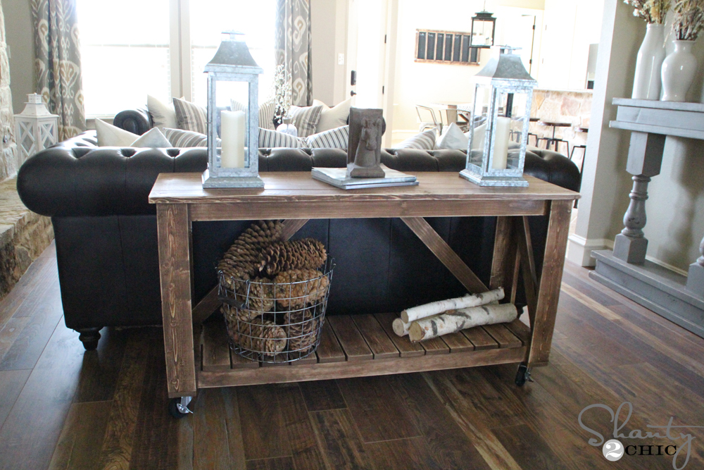 Photo : Home Creations Design Center Images. Easy DIY Console Table ...