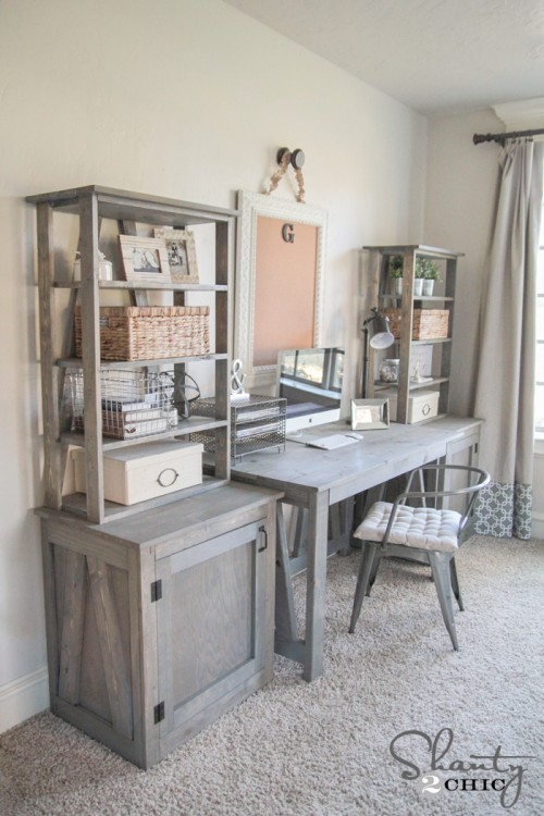 Free Plans - DIY Desk System by Shanty2Chic
