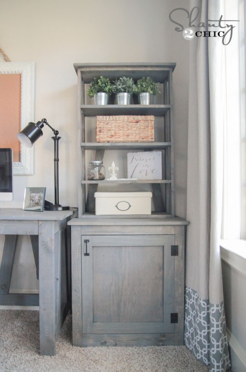Free Plans - DIY Desk and Bookcase