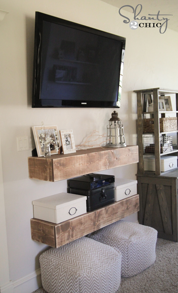 diy media shelves shanty 2 chic. Black Bedroom Furniture Sets. Home Design Ideas