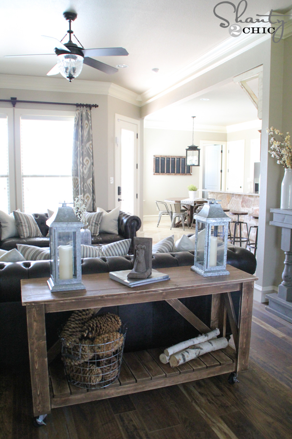 Easy DIY Console Table - How to build a console table