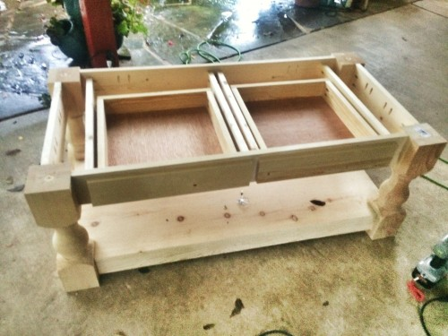 image4 - Rustic Farm Coffee Table - Shanty 2 Chic