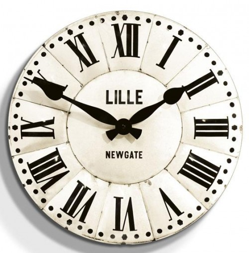 Lille Tin Wall Clock