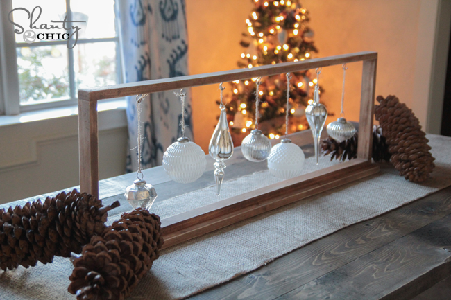 Diy christmas centerpiece shanty chic
