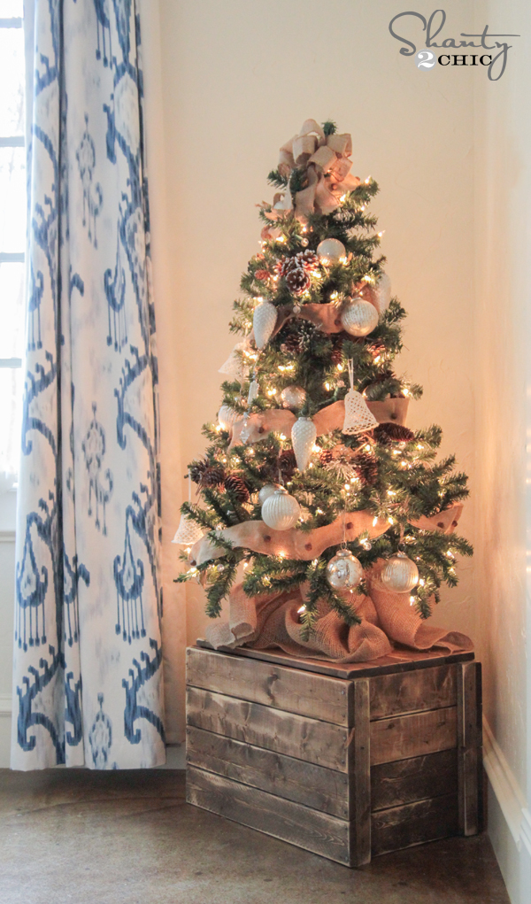 Diy Christmas Tree Crate Shanty 2 Chic