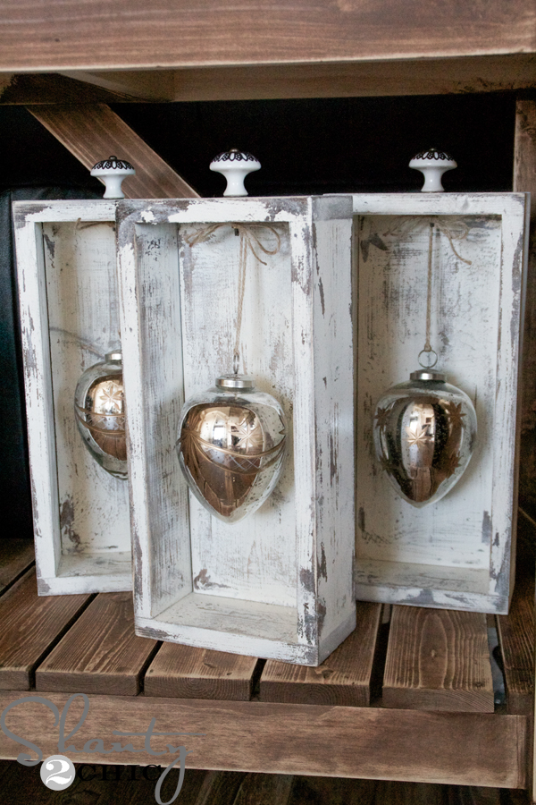 59 Incredibly Simple Rustic Décor Ideas That Can Make Your: DIY Ornament Display Box