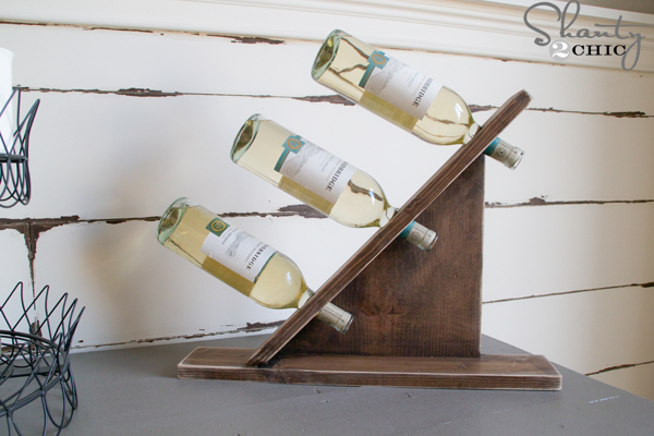 Diy wine bottle holder shanty 2 chic - Wine bottle balancer plans ...