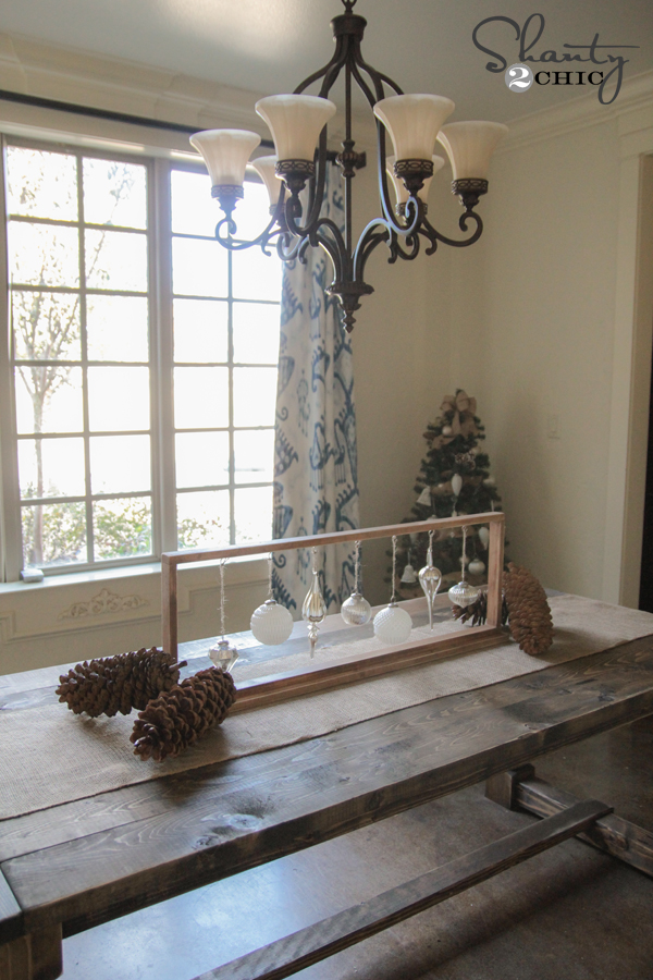 Diy Christmas Centerpiece Shanty 2 Chic
