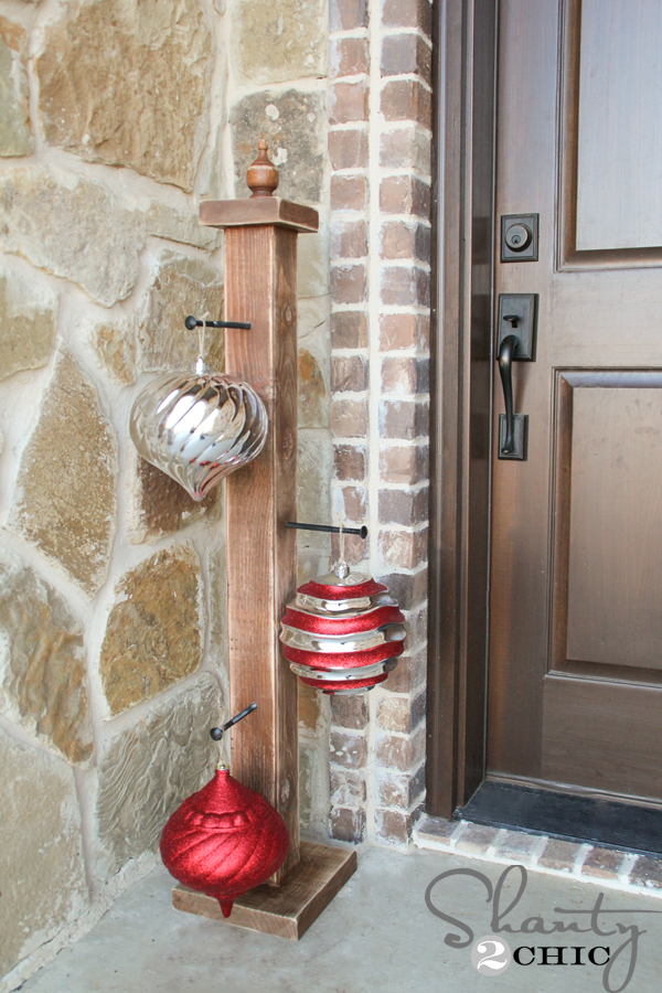 Diy front porch ornament stand shanty chic